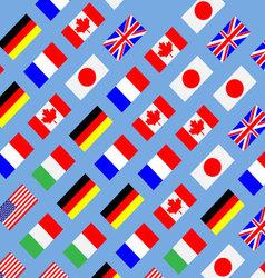 Seamless pattern flag g7 vector