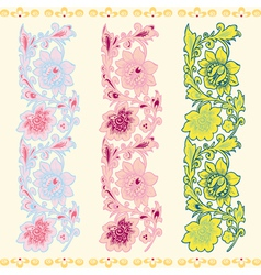 Seamless vertical pattern with a flower vector image vector image