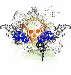 tattoo skull grunge vector image