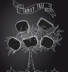 Vintage social media tree vector image vector image