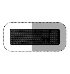 black computer keyboard icon vector image