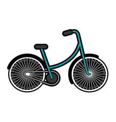 blue vintage bicycle cartoon vector image