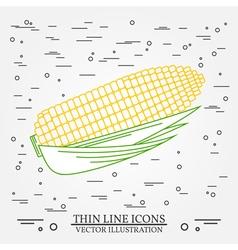 Corn thin line design Corn pen Icon Corn pen Icon vector image