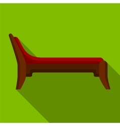Couch flat icon vector image