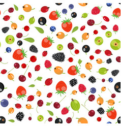 fresh berry fruit seamless pattern vector image vector image
