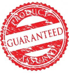 guaranteed logo vector image