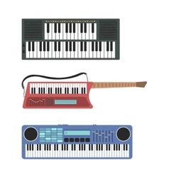 Keyboard musical instruments vector image