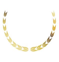 laurel wreath gold victory decoration leaves vector image