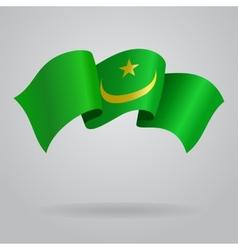 Mauritanian waving Flag vector image vector image
