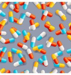 pills seamless pattern vector image vector image