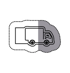 silhouette emblem delivery car icon vector image vector image