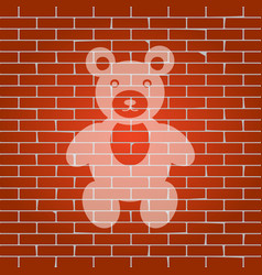 teddy bear sign whitish icon vector image