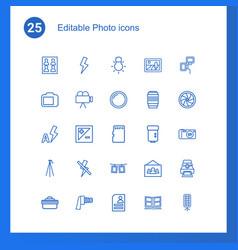 25 photo icons vector