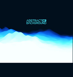 3d landscape abstract blue background blue vector