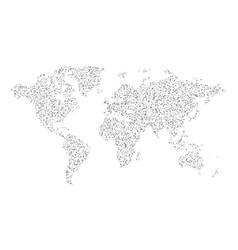 abstract gray world map dotted graphic design vector image