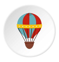 Air balloon journey icon circle vector