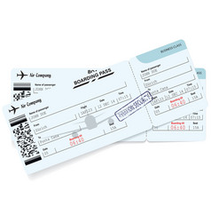 Airline boarding pass ticket concept of journey vector