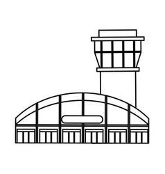 airport tower control icon vector image