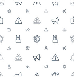 alert icons pattern seamless white background vector image