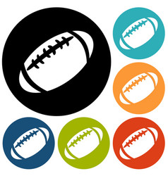 American football icon isolated vector