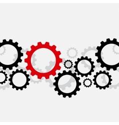 Bad gear vector image