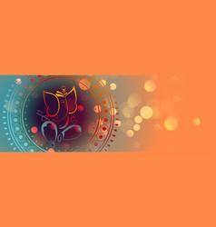 Beautiful lord ganesha design colorful banner vector