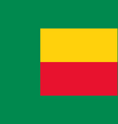 benin flag icon in flat style national sign vector image