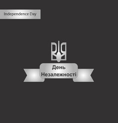 black and white style icon of ukraines vector image