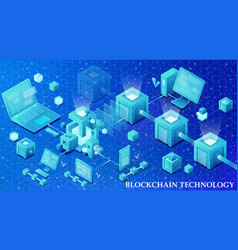 Blockchain technology vector