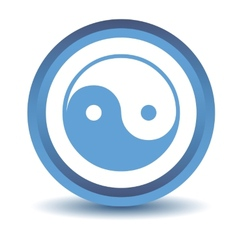 Blue Yin Yang icon vector