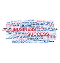 Business success vector image