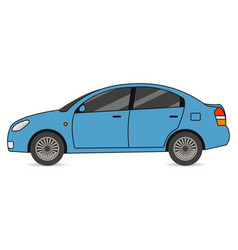 car automobile transport in flat style vector image