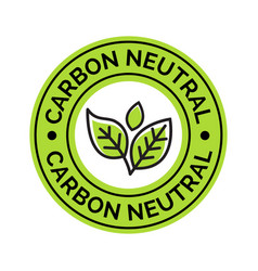 carbon neutral icon stamp co2 energy monoxide vector image