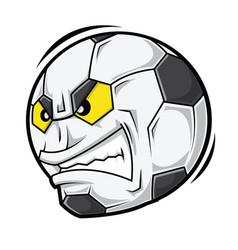 Cartoon football angry face vector