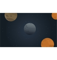 Cartoon outer space landscape vector image