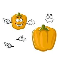 Cartoon sweet yellow bell pepper vegetable vector