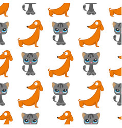 Cats dogs cute animal funny vector