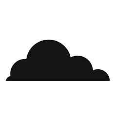 Cirrus cumulus icon simple style vector
