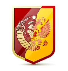 Coat of arms Soviet Union and Russia vector
