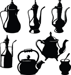 Cookware Teapots vector image vector image