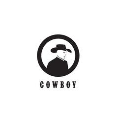 Cowboy logo design template vector