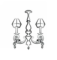 Crystal Classic luxury style lamp vector