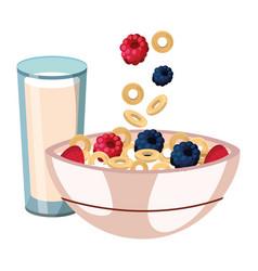 Delicious tasty breakfast cartoon vector
