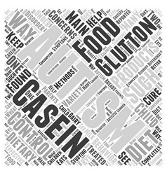 Dietary concerns glutton and casein word cloud vector