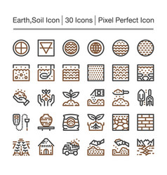 Earth line icon vector