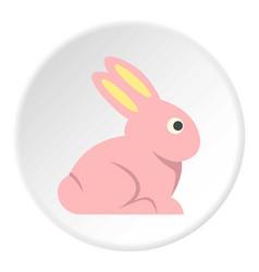 Easter bunny icon circle vector