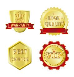 Emblem and badge symbol vector