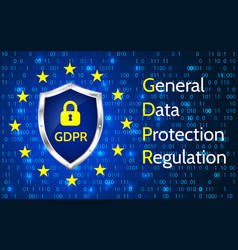 eu general data protection regulation eu gdpr vector image