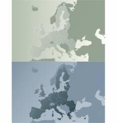 European union earthtones map vector