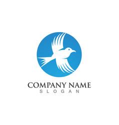 Falcon wing logo template icon design vector